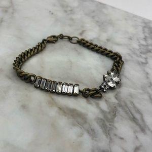 Chloe + Isabel Crystal Baguette Bracelet (Clear)